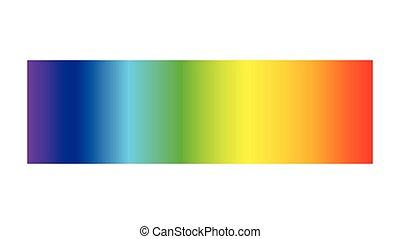 longueur onde, visible, lumière, électromagnétique, ligne, spectre, radiation, prisme, couleur