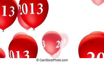(loop), blanc, ballons, rouges, 2013