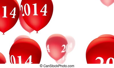 (loop), blanc, ballons, rouges, 2014