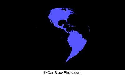 (loop), globe, noir, tourner