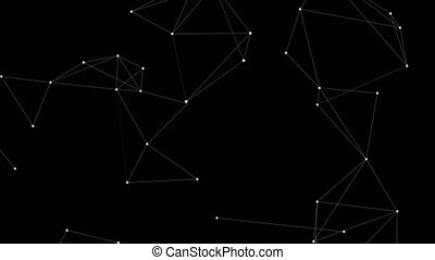 loop., résumé, blockchain, fond, technologie, futuriste
