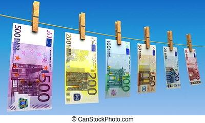 (loop), sécher, euros