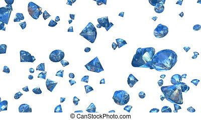 (loop), tomber, blanc, diamants
