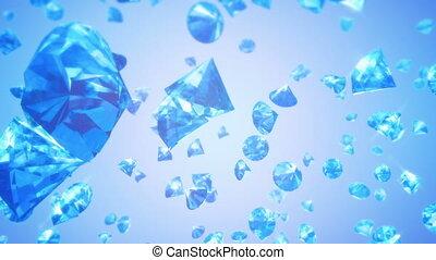 (loop), tomber, fond, diamants