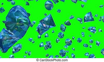 (loop), tomber, vert, diamants