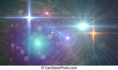lotissements, lumière instantanée, blinks