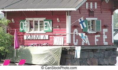 lotissements, maison, finlande, onduler, fs700, drapeaux, 7q, odyssée