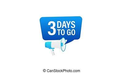 loudspeaker., porte voix, mouvement, advertising., jours, mâle, 3, graphics., bannière, business, commercialisation, tenue, go., main