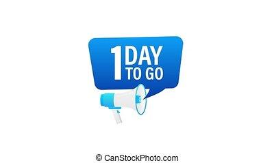 loudspeaker., porte voix, mouvement, advertising., jours, mâle, graphics., bannière 1, business, commercialisation, tenue, go., main