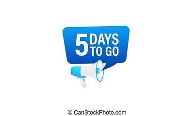 loudspeaker., porte voix, mouvement, advertising., jours, mâle, graphics., bannière, 5, business, commercialisation, tenue, go., main