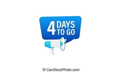 loudspeaker., porte voix, mouvement, advertising., jours, mâle, graphics., bannière, business, 4, commercialisation, tenue, go., main