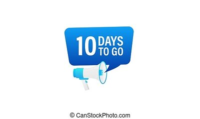 loudspeaker., porte voix, mouvement, advertising., jours, mâle, graphics., bannière, business, commercialisation, 10, tenue, go., main