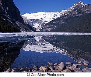 louise, alberta, canada., lac