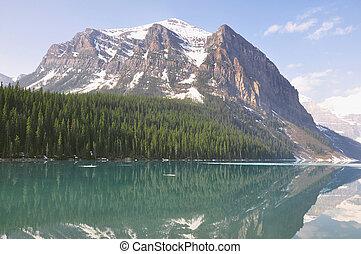 louise, canada., national, banff, park., lac