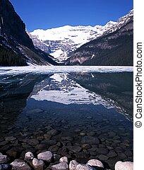 louise, national, park., lac, banff