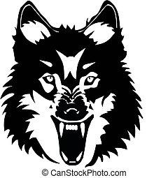 loup, illustration