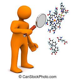 loupe, molécule, homoncule