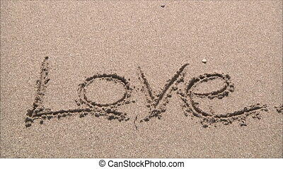 """love"", mot, sable"