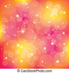 lumière, étincelant, fond, coloré, étoiles