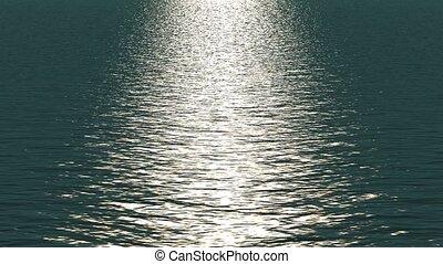 lumière, blanc, refléter, ocean.