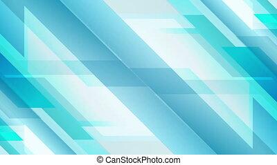 lumière bleue, animation, vidéo, géométrique, technologie
