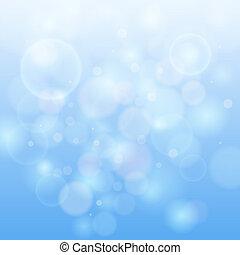 lumière bleue, bokeh, résumé, arrière-plan.