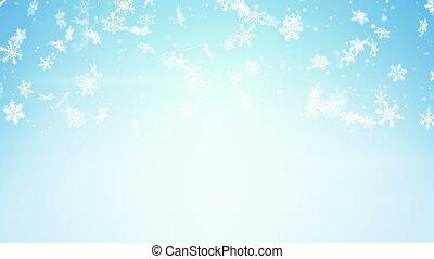 lumière bleue, chute neige, boucle