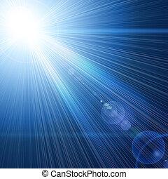 lumière bleue, faisceau