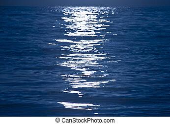 lumière bleue, réflexion eau, ondulation