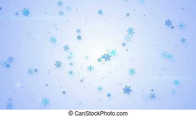 lumière bleue, seamless, chute neige, animation, boucle