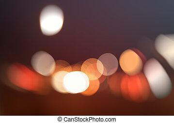 lumière, bokeh, trafic, fond