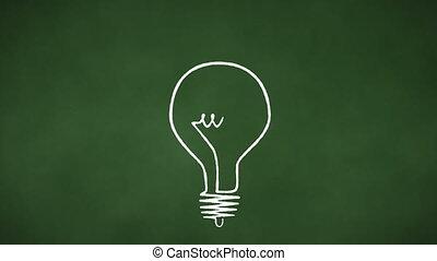 lumière, boucle, ampoule