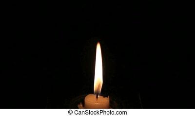 lumière bougie, dark.