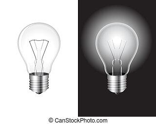 lumière, bulb.