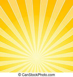 lumière, clair, jaune, rayons