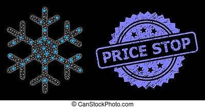 lumière, coût, caoutchouc, filet, taches, flocon de neige, toile, arrêt, clair, timbre