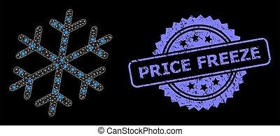 lumière, coût, gel, caoutchouc, réseau, taches, flocon de neige, toile, clair, timbre