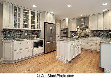 lumière, coloré, cabinetry, cuisine