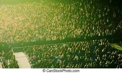 lumière, eclats, salle concert, gens