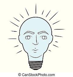 lumière, esprit, ampoule