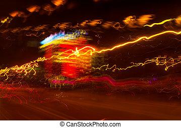 lumière, exposition, trafic, long, peinture