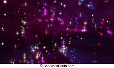 lumière, particule, étoiles, briller