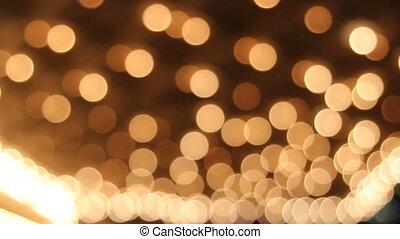 lumière, plafond, clignotant, théâtre