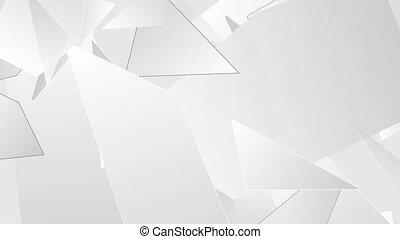 lumière, résumé, gris, polygonal, animation, vidéo, technologie