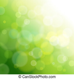 lumière, résumé, vert, arrière-plan.
