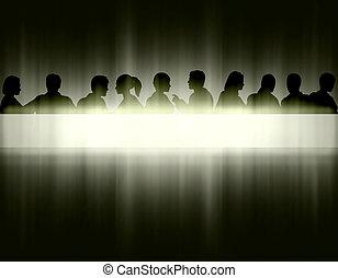 lumière, raie, gens