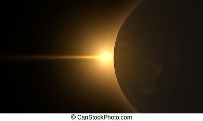 lumière, shinning, globe
