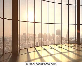 lumière soleil, bureau