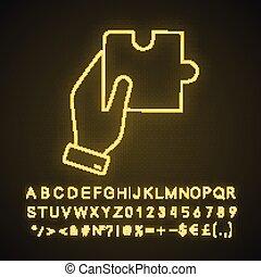 lumière, solution, icône, néon, conclusion