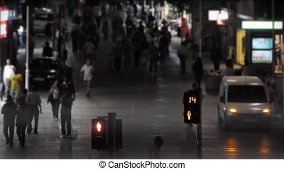 lumière, trafic, night.